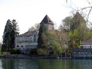 Schloß Gottlieben, kurz von Napoleon iii umgebaut und bewohnt